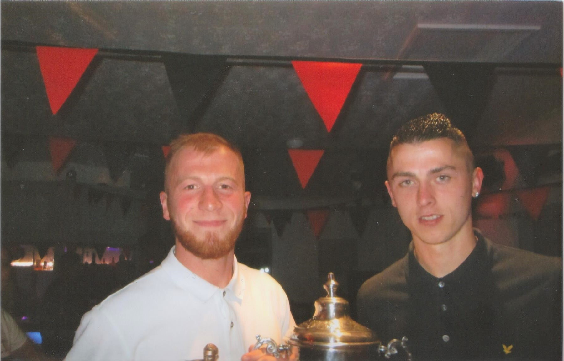 Russell May (left) won Sportsman of the Year, while Ryan Reeve (right) was voted best first-team player