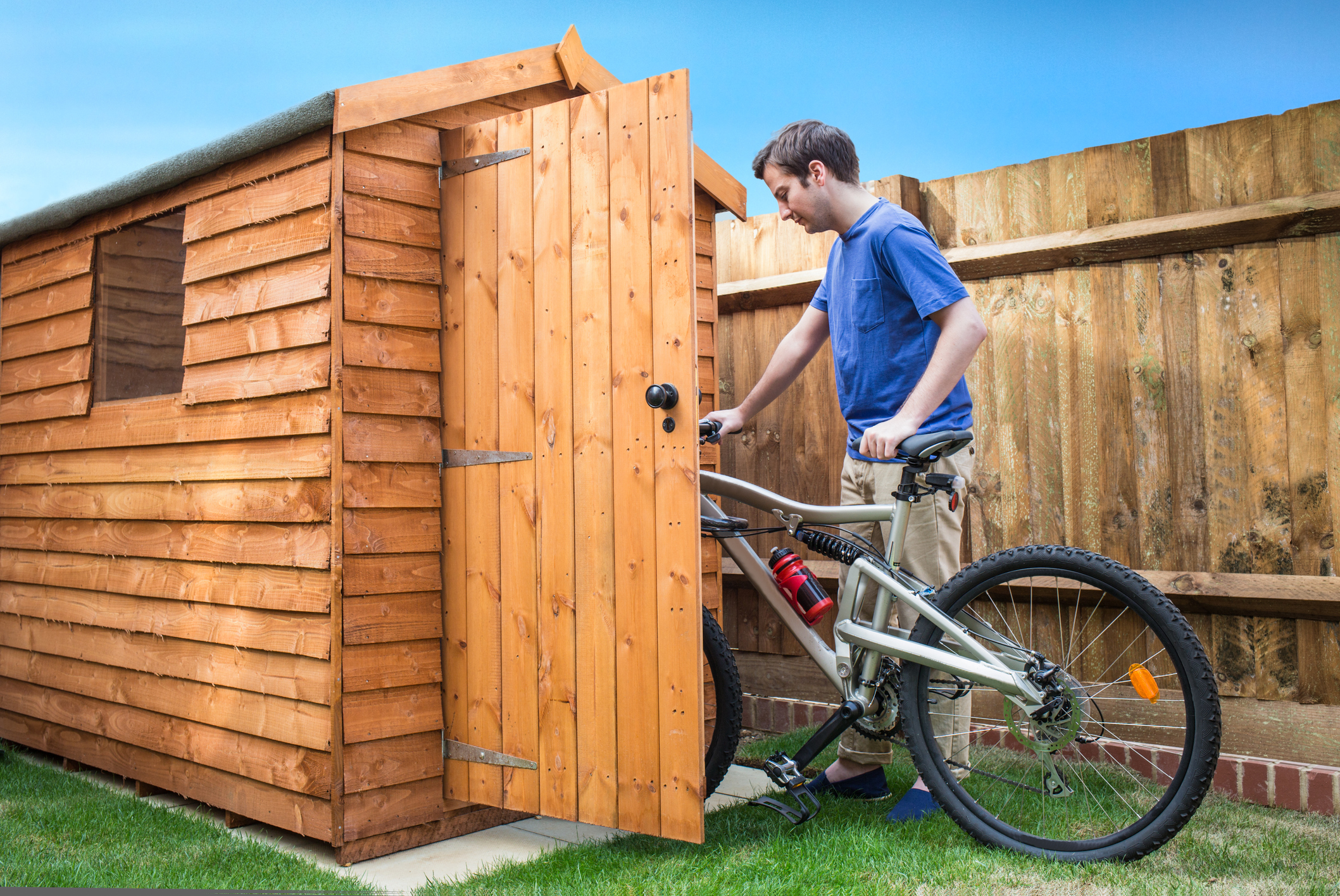 A third (33%) of people with a garden shed admit to leaving it unlocked, according to a survey