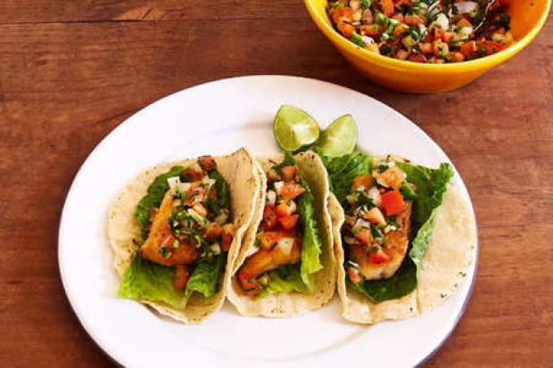 Tony Cowell's homemade fish tacos