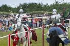 The Grand Medieval Joust at Pendennis Castle.                                            Photo: Emily Whitfield-Wicks