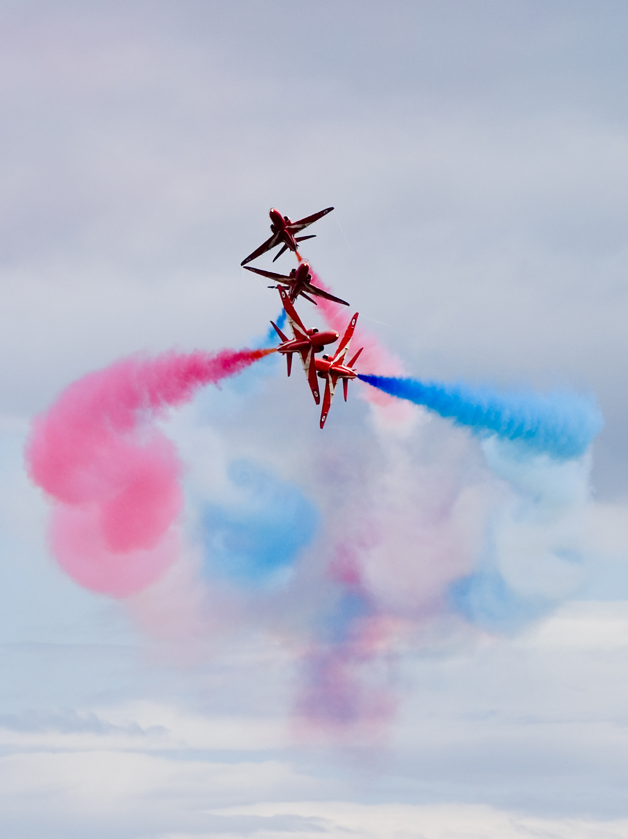 The spectacular Red Arrows are due to display in Falmouth on Tuesday