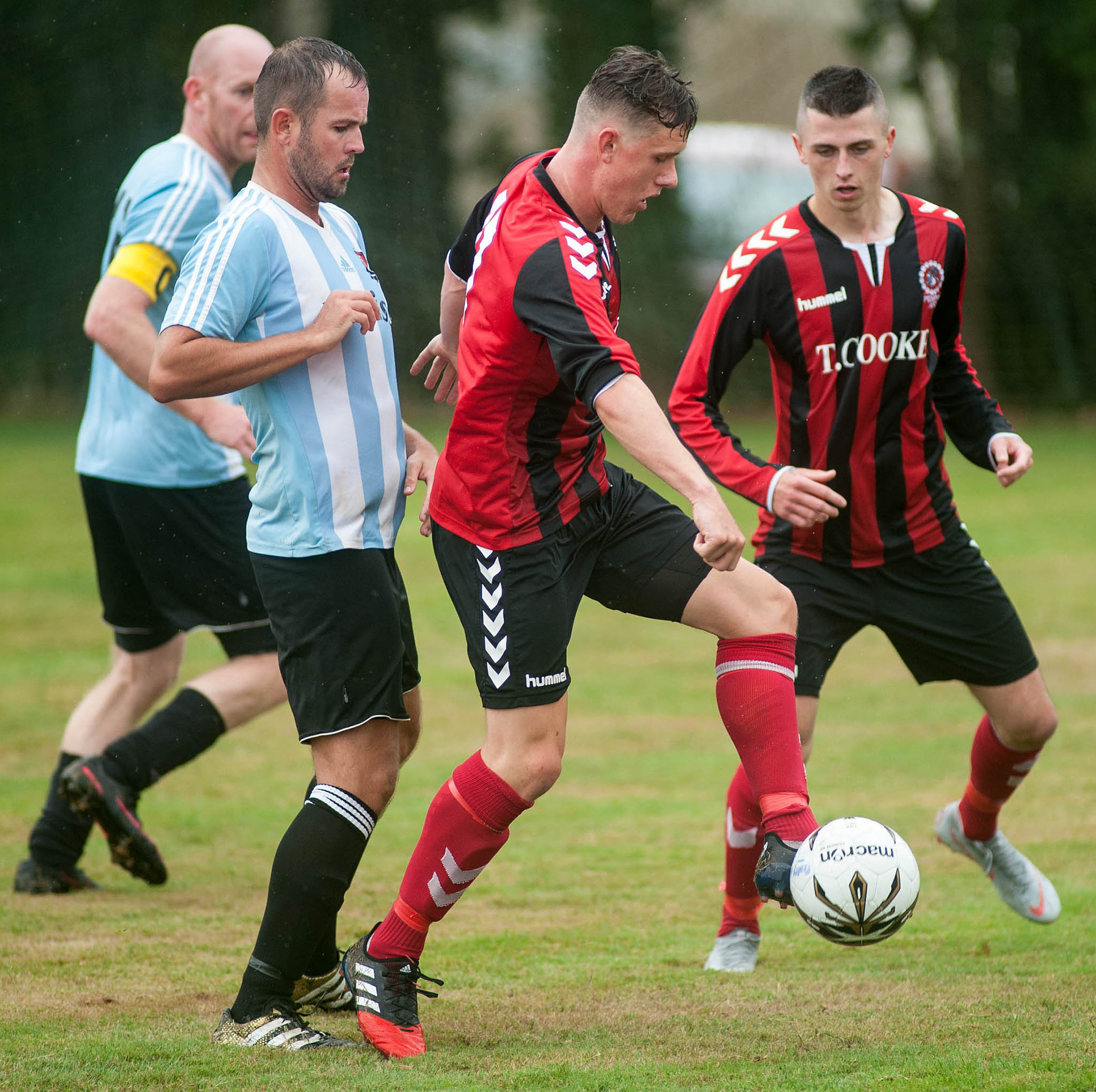 Penryn Athletic reached the third round of the Cornwall Senior Cup with a 3-1 win at St Ives Town on Saturday. Picture by Colin Higgs