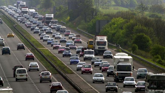 Tailbacks for almost 12 hours on the M5 yesterday