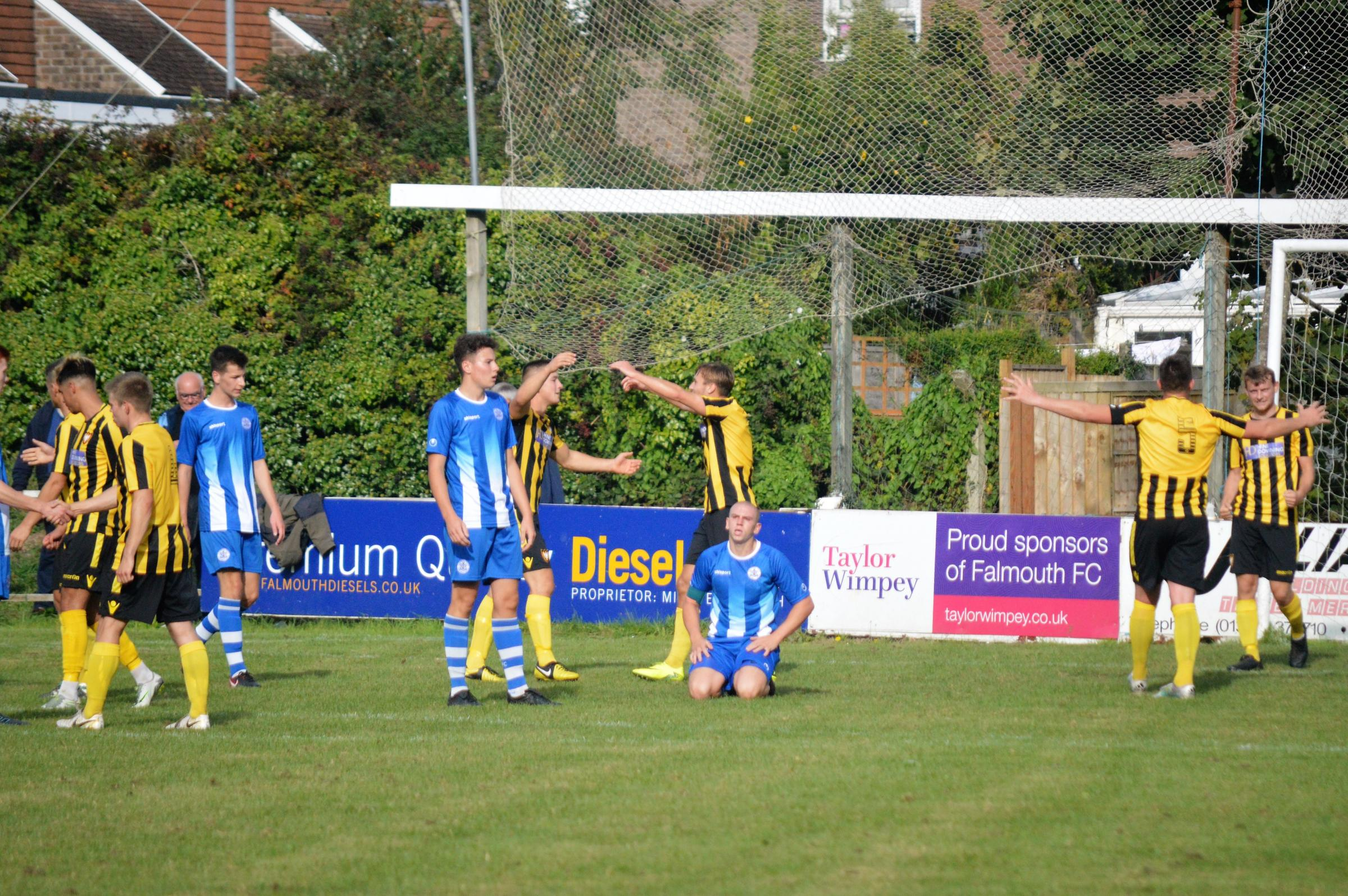 Falmouth Town lost 3-1 after extra-time at Dorset club Hamworthy United in the FA Vase second round proper on Saturday