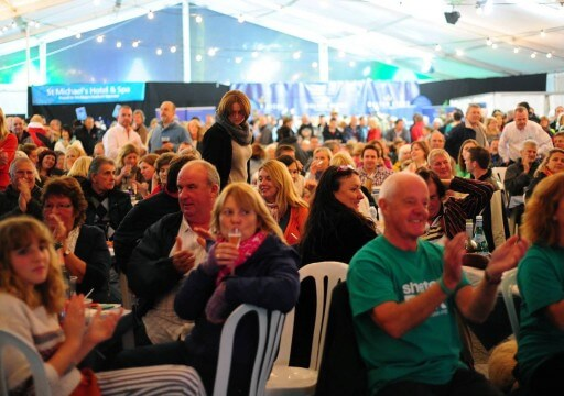The main part of the Oyster Festival takes place in a marquee at Events Square