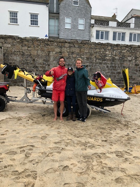 RNLI lifeguards James Symons and Adam Bayfield