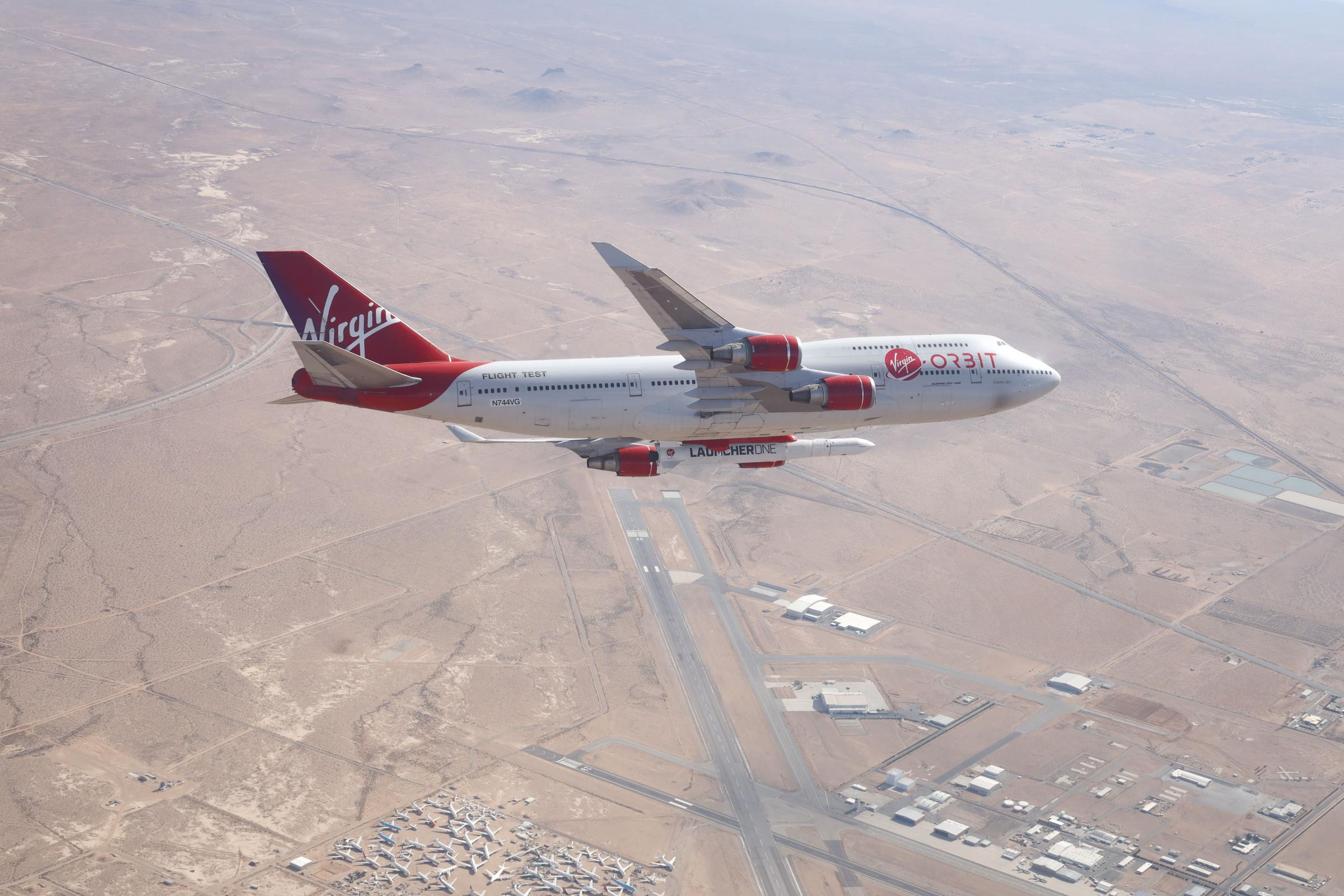 Virgin Orbit on a test flight