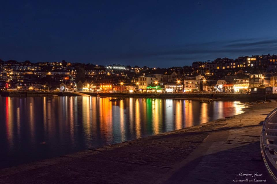St Ives at night, taken by Marcus Jose