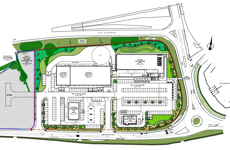 The proposed development at Roseworthy Hill