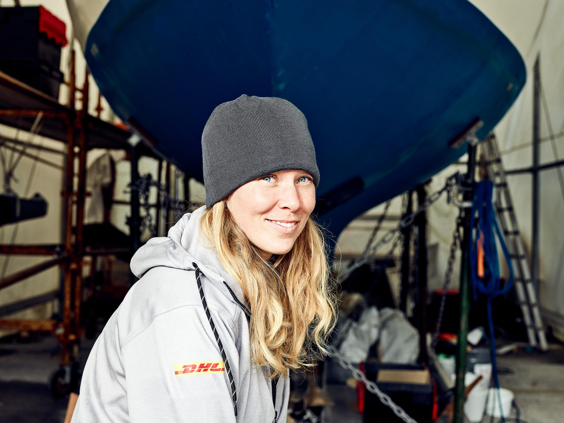 British yachtswoman Susie Goodall, the sole female entrant in the 2018 Golden Globe Race. Photo: Maverick Sport/GGR/PPL