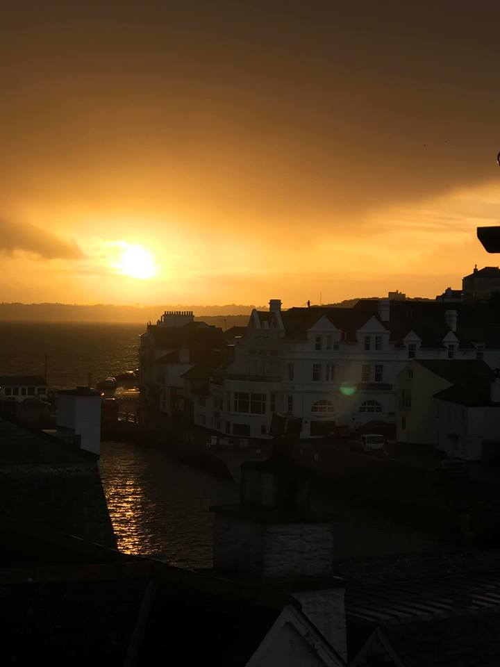 Stormy sunset in St Mawes, taken by Emma Hayman