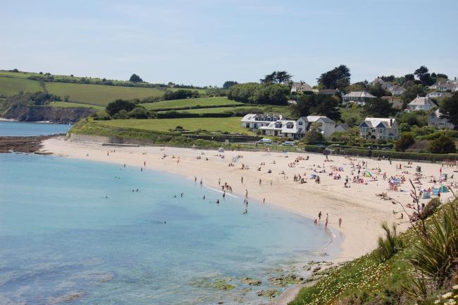 Gyllyngvase Beach in Falmouth is on the 'pollution alert' map by Surfers Against Sewage