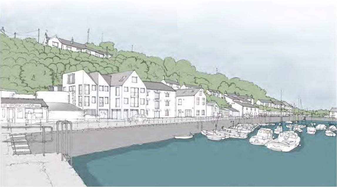 How the Arts Hotel would look at Breageside in Porthleven