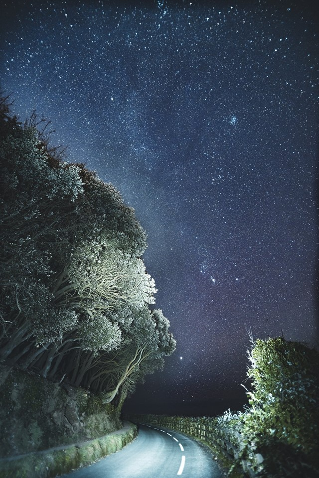 Stargazing at Pendennis Point, taken by Anders Botnmark