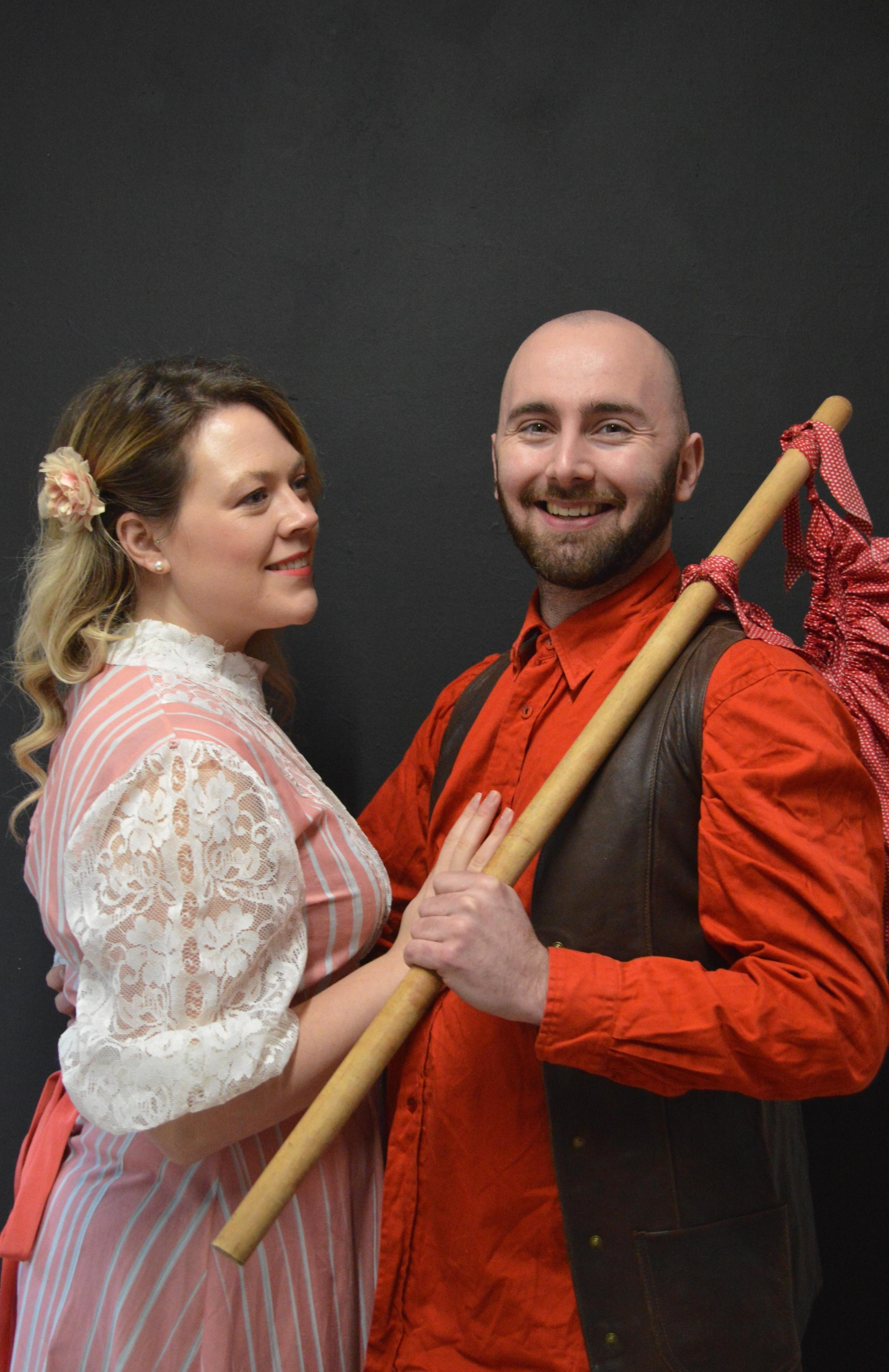 Bethany Lyne as Alice Fitzwarren and Carl Betts as Dick Whittington