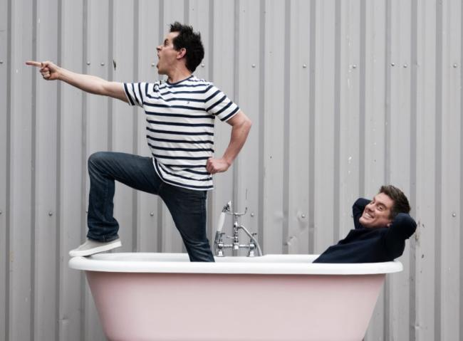 Dick and Dom, who will be performing at Eden in May half term