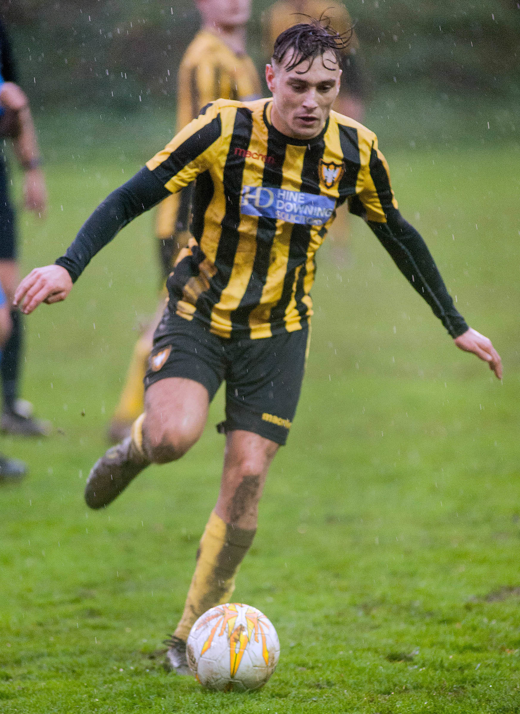 Luke Brabyn scored two goals in Falmouth's 4-0 win over Launceston on Saturday. Picture by Colin Higgs