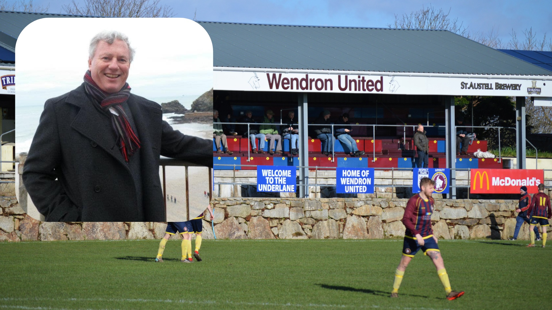 Saturday's match will be Wendron United's first since the death of club chairman Kevin Williamson