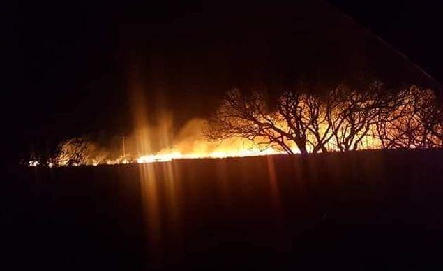 A bonfire spread to 300m of gorse at Gwithian last night. (Photo from stock)