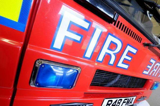 Crews battle fire in west Cornwall