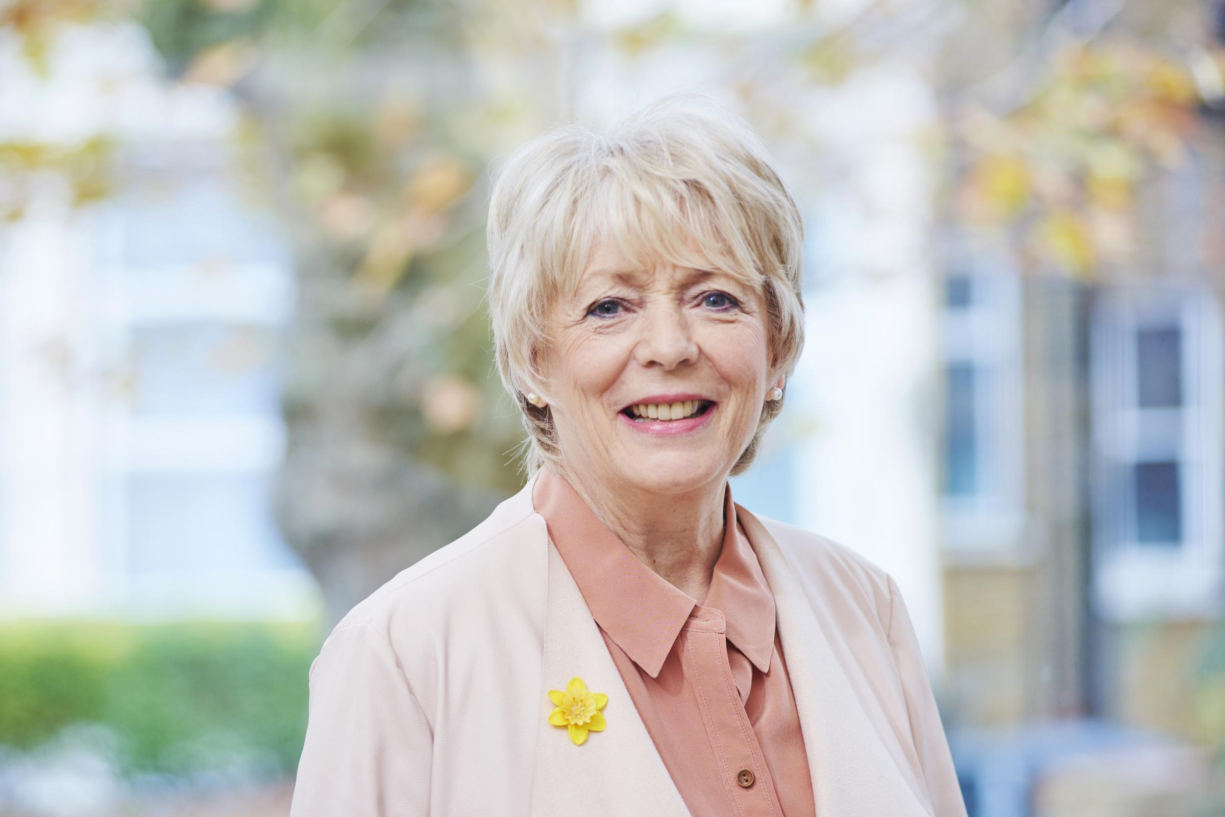 Alison Steadman, who is supporting the Great Daffodil Appeal for Marie Curie