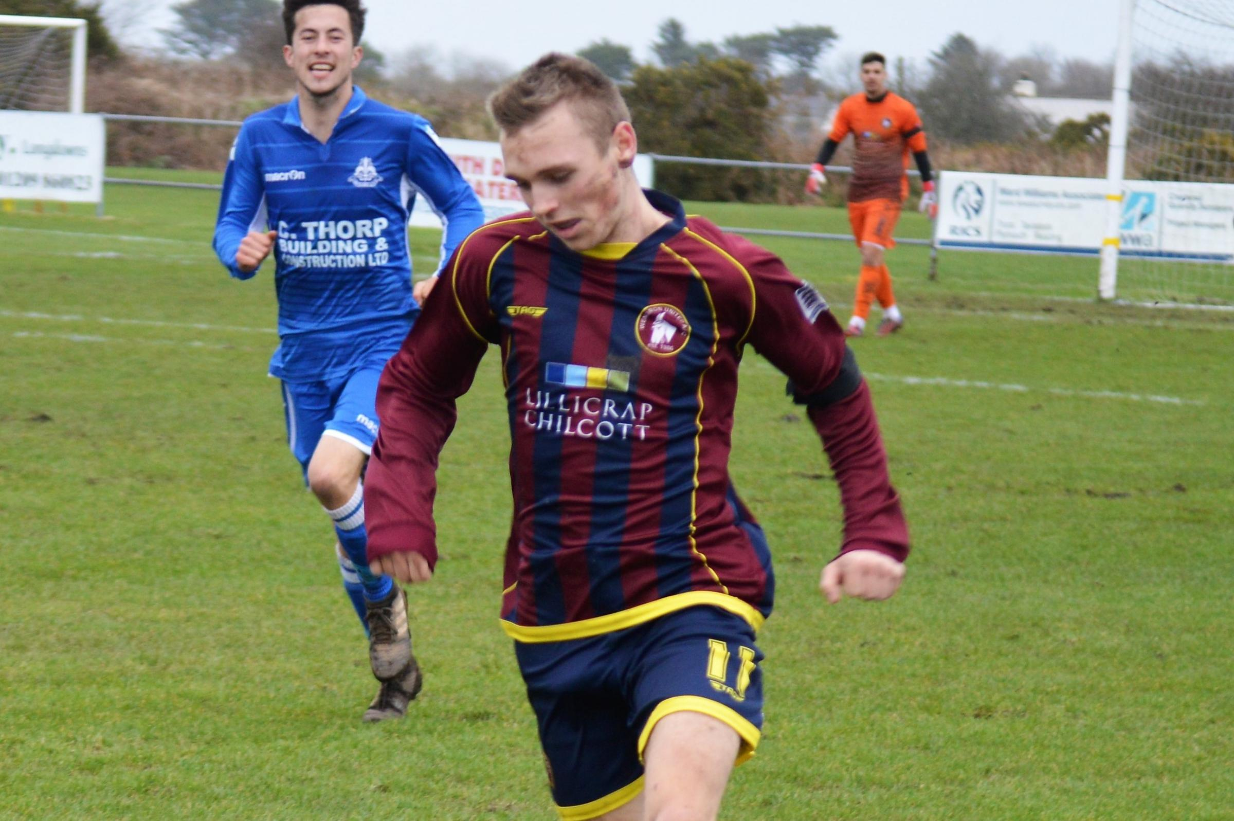 Cameron Wheat scored the second goal of Wendron United's 2-0 win at home to Bere Alston United on Saturday