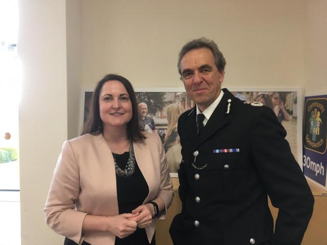 Police and Crime Commissioner, Alison Hernandez, and Chief Constable, Shaun Sawyer (Image: Daniel Clark)