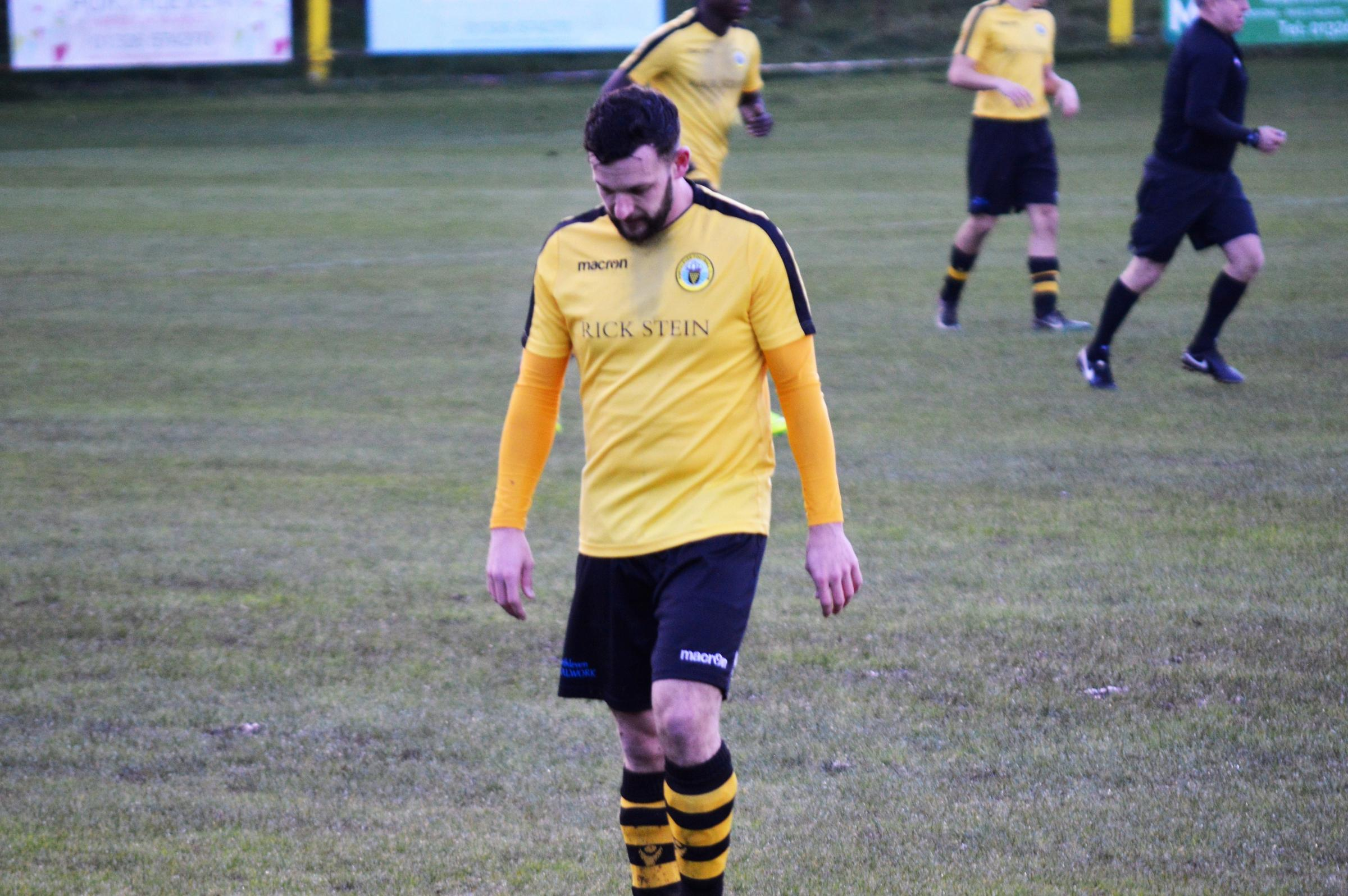 Rob Carey scored one of Porthleven's four goals in their 5-4 loss at Plymstock United on Saturday