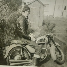 Dave Saunby in his teens, outside his house in Trevithick Road, where he still lives today