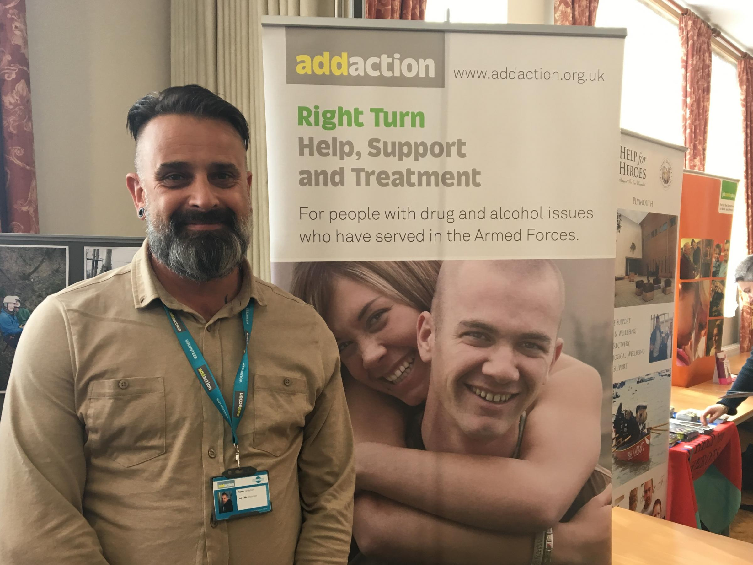 Andy Kent, who works for Addaction