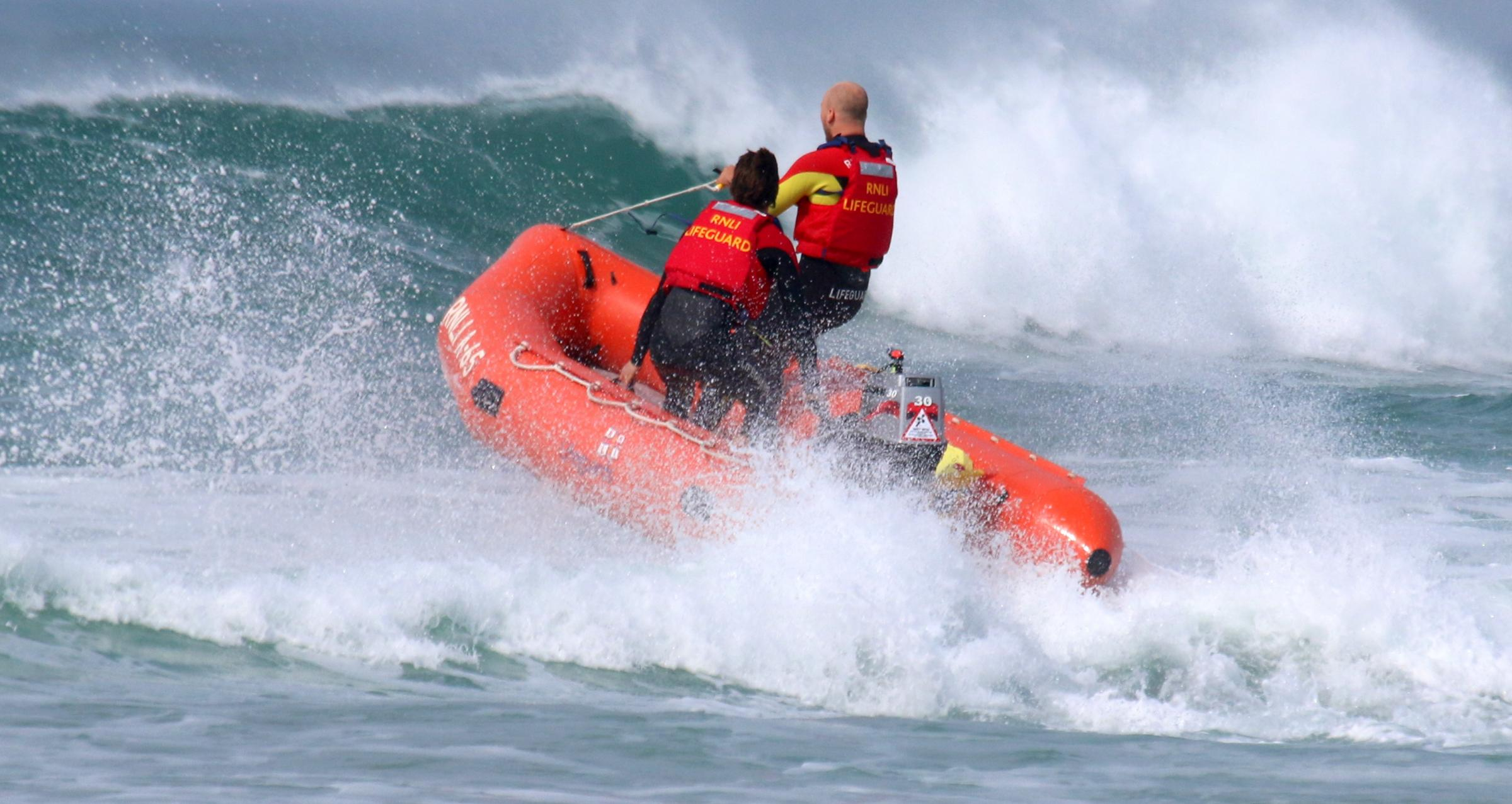 Surfer rescued after getting caught in strong rip tide