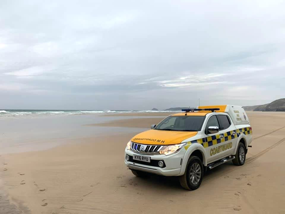 Coastguards have been helping police in their enquiries at Perranporth beach. Photo: St Agnes Coastguard