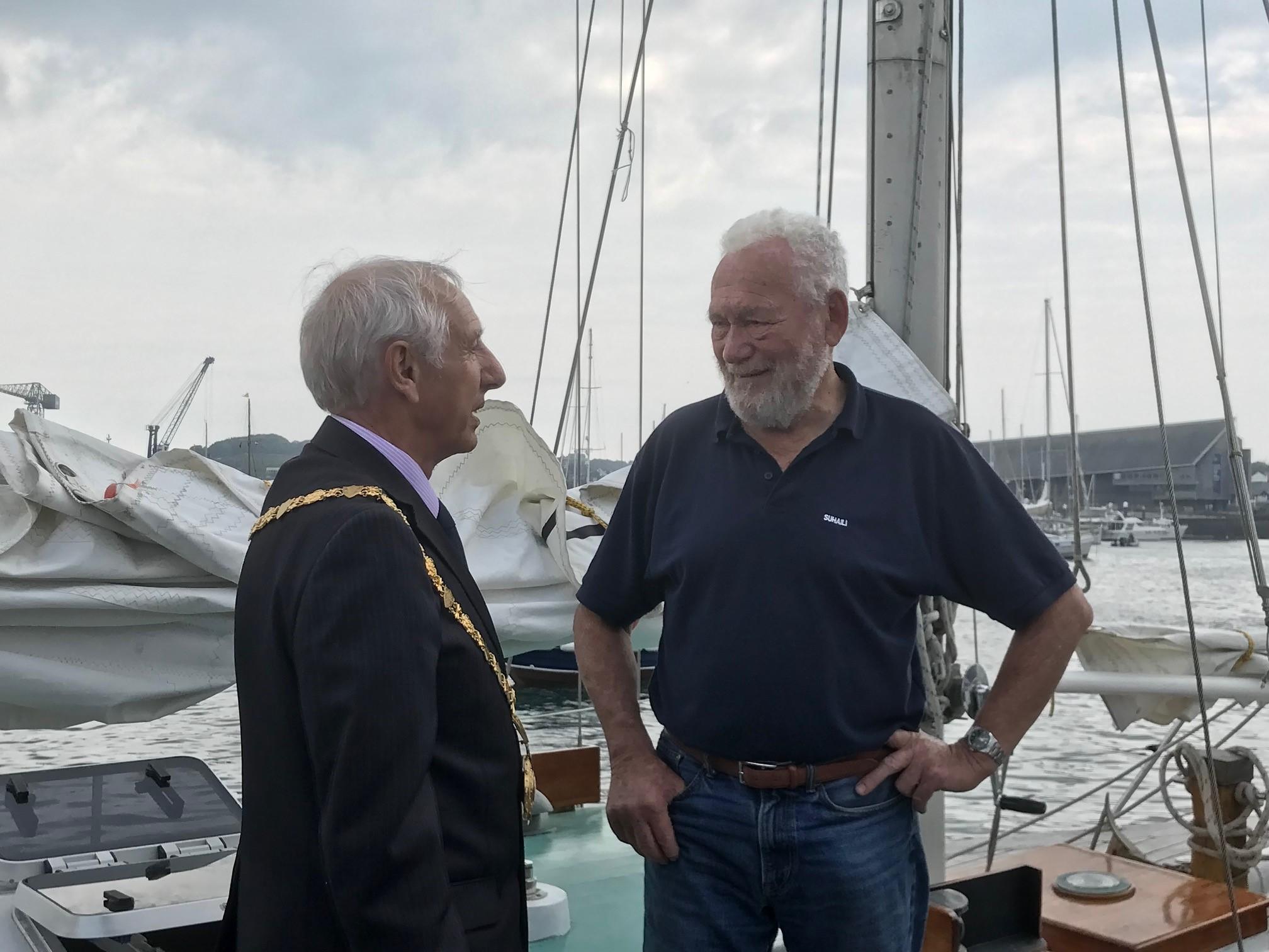 Sir Robin Knox-Johnston returns to mark Golden Globe success