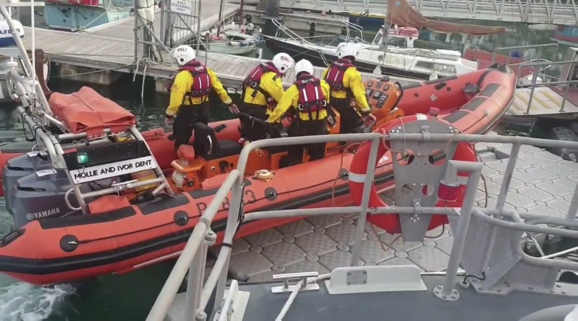 Penlee lifeboat rescues kayaker from sea off Poldhu