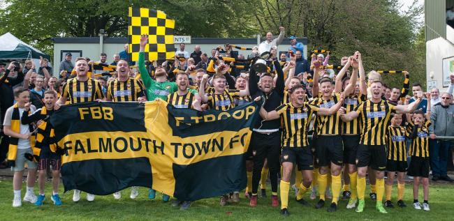 Falmouth Town won the Cornwall Senior Cup last season for the first time since 1997. Picture by Colin Higgs
