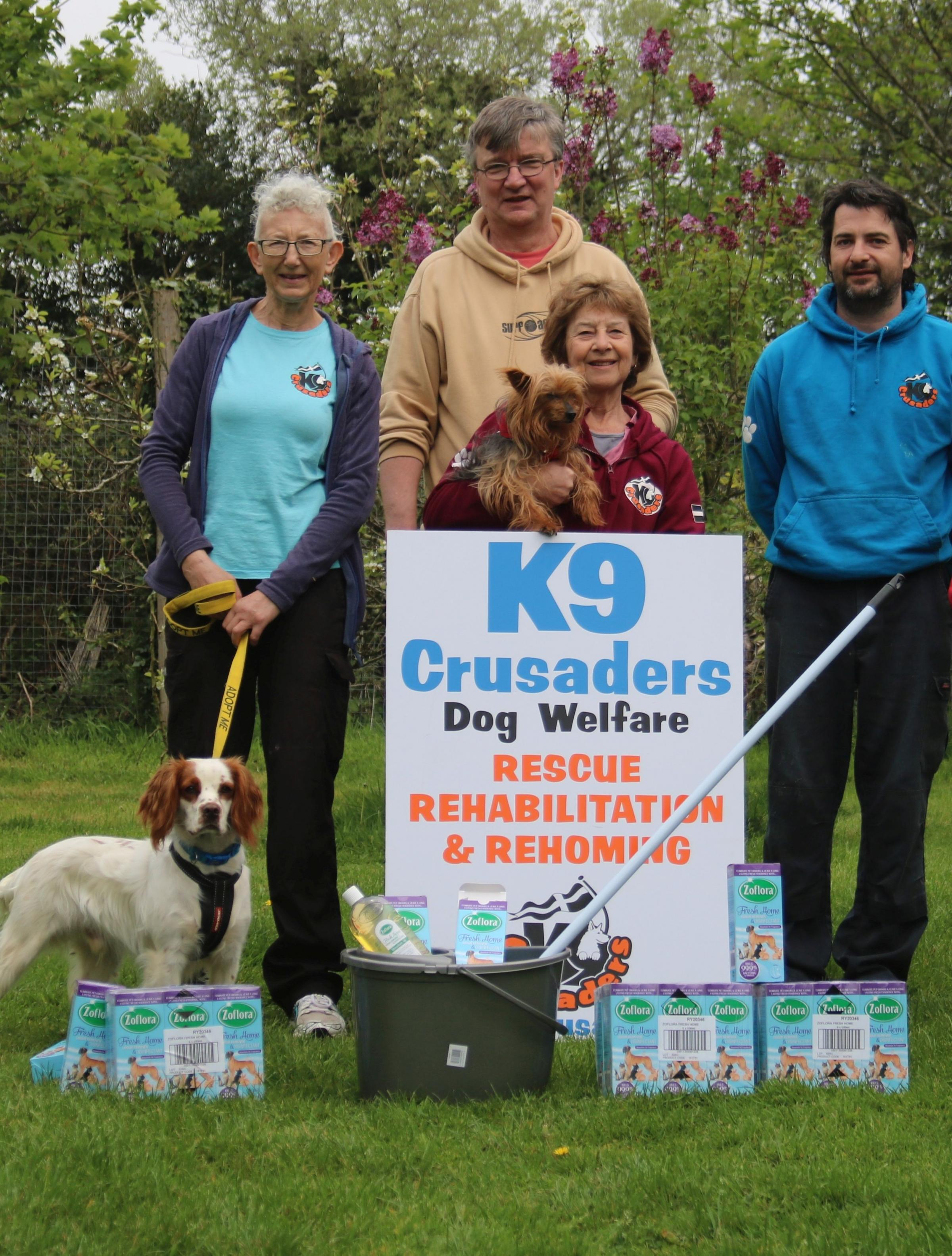 Zoflora has donated disinfectant to K9 Crusaders