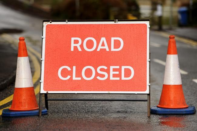 The road will be closed until June 7