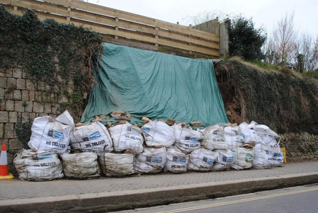 The Godolphin Road wall collapsed for three and a half years