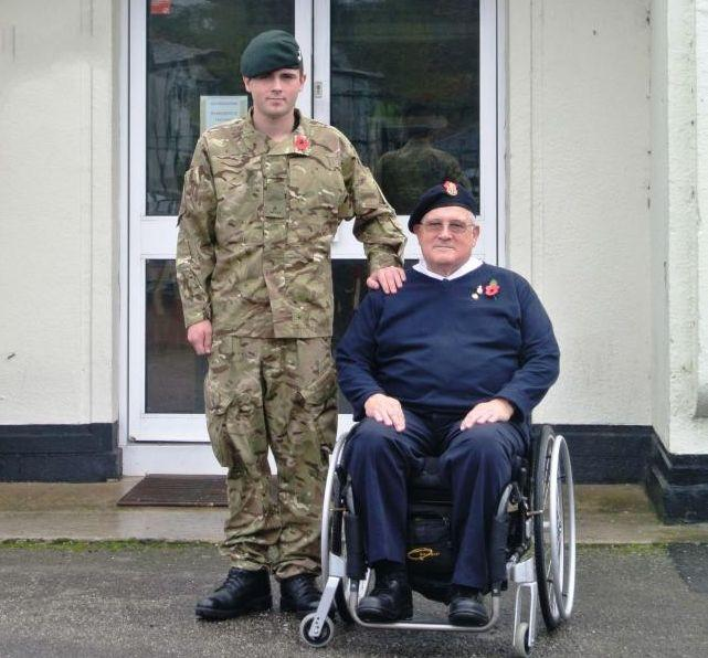 Falmouth veteran Edwin Thomas with grandson Connor Oldfield