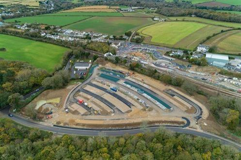 St Erth Multi Modal Hub - photo taken while work was being undertaken last year (Image: Cornwall Council)